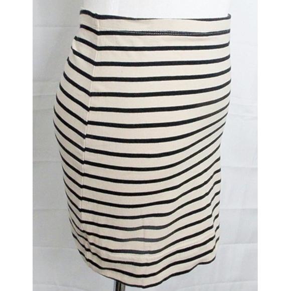 H&M Dresses & Skirts - Tan/Black Stripe Stretch Bodycon Mini Skirt